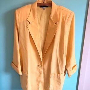 VTG 80s Yellow Linen Blazer
